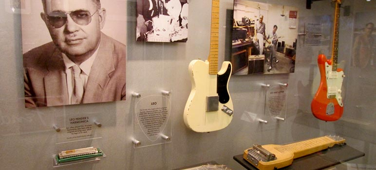 Display at the Fender Guitar Factory Museum