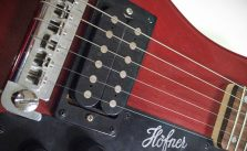Hofner 'Shorty' Contemporary Series Travel Guitar Bridge and Humbuckers